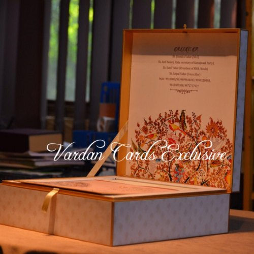 Box Wedding Invitation Card
