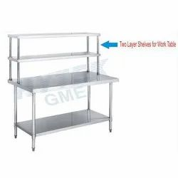 SS 202 Two Layer Shelves  Work Table