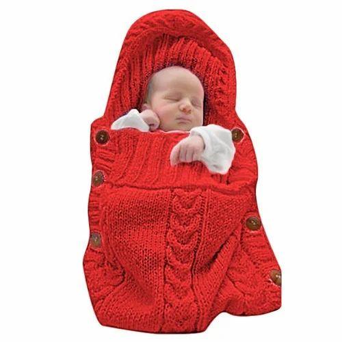 Babymoon Organic Knitted New Born Swaddle Wrap Sleeping Bag Sleep Sack Stroller Comfortable Cosy