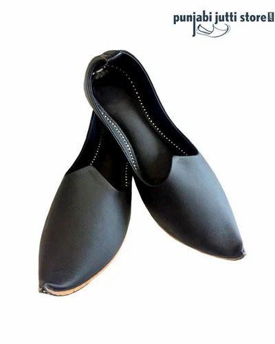 Men Leather Black Designer Khussa, Rs
