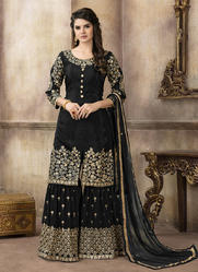 Upada Silk Designer Sharara Suits