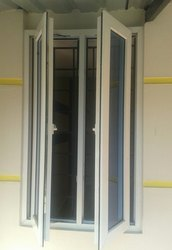 White Residential UPVC Casement Windows, Glass Thickness: 5mm