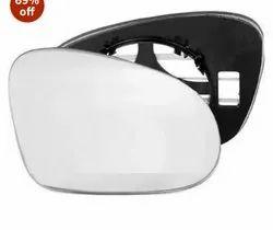 White, black Plastic Car SIDE Mirror