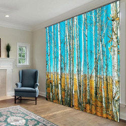 Polyester Decorative Printed Curtain
