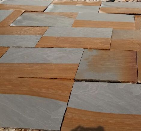 Two Tone Sandstone Tiles Thickness 25 Mm Rs 35 Square Feet Id