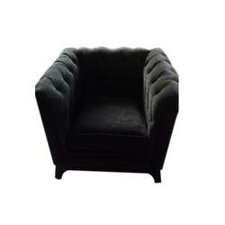 Solid Wood Leather Sofa Chair