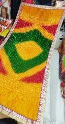 Bandhani Dupatta Tapeta Silk Mirror Work
