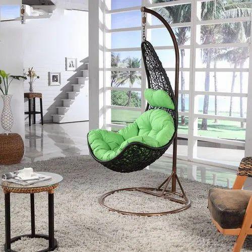 Brilliant Cane Wicker Hanging Swing Chair Download Free Architecture Designs Ferenbritishbridgeorg