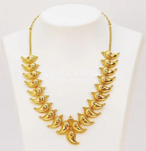 7d924f6c23f1cc Golden Elegant Mango Shaped AD Short Necklace-S0350, Rs 2500 /piece ...