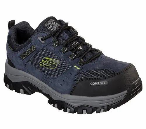 Blue Skechers Greetah Comp Toe Shoe