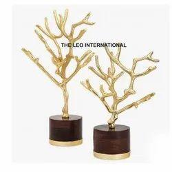 Golden Tree Sculpture