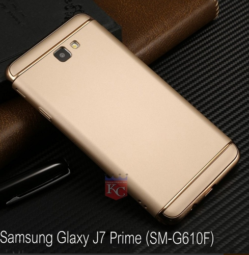 premium selection dbdb7 a5b6e 3 In 1 Ultra Thin Hard Coated Matte Surface Back Cover For Galaxy J7 Prime  Gold