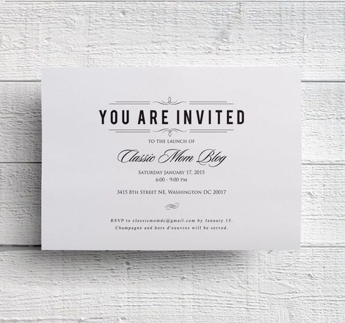 invitation cards for events sample