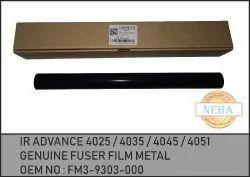 IR Advance 4025 4035 4045 4051 Fuser Film Metal Fm3-9303-000