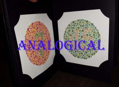 Ishihara Color Blindness Test Book - Analogical Scientific ...