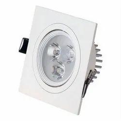 Cool White 3 W ORSL-SQ3 Square Shape LED Light
