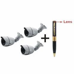 3 Bullet Camera Set
