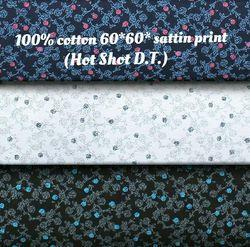 100% Cotton 60x60 Satin Print Hot Shot (D.T) Fabric