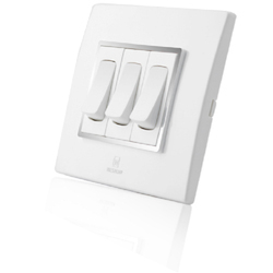 20 Amp White Electric Switch, 200-240 V