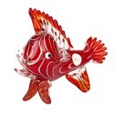 Newzenx Glass Handicraft Red Sea Fish 12 Inches 2kg