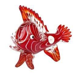Newzenx Glass Handicraft Red Sea Fish 12 Inches 2kg