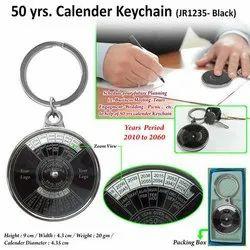 50 yrs Metal Calendar Keychain JR1235 (Black)