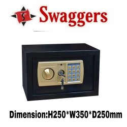 Swaggers Electronic Digital Safety Locker with Dual Security