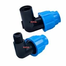 PP Compression Fitting MTE ( Male Threaded Elbow )