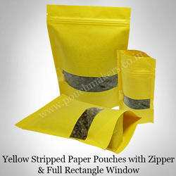 Stripped Paper Pouches