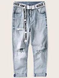 Men Light Blue Jeans