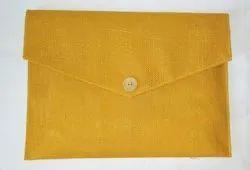 Green Jute bag folder file, For Office, Size: 14.5*11