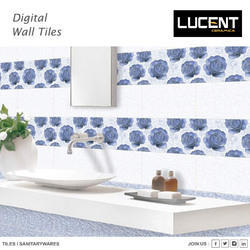 Blue Rectangular Wall Tiles, Size: 30X45 cm, Packaging Type: Box