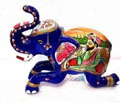 Metal Painted Maharaja Elephant