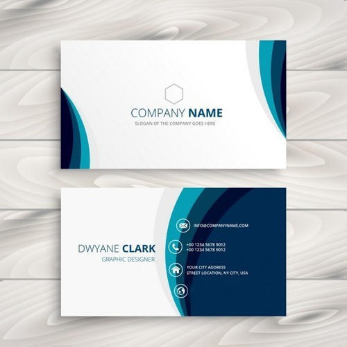 Printed whiteblue business card rs 04 piece pure prints printed whiteblue business card reheart Image collections