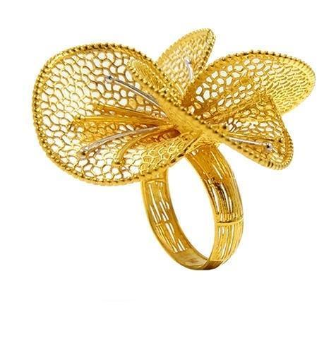 AD Designer Turkish Gold Ring For Ladies