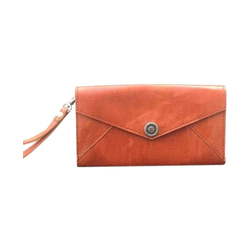 Pristino Tan Brown Ladies Leather Wallet
