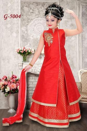 e3d39eb0d Ethnic Wear For Girls - Girls Designer Lehengas For Diwali Exporter ...