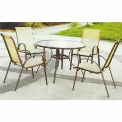 Mesh Garden Chairs And Table Set