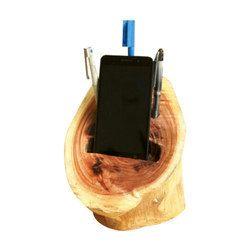 Wooden Mobile & Pen Holder