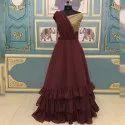 Georgette Drape Dupatta Gown