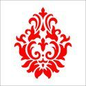 Indian Motif Damask Wall Stencil