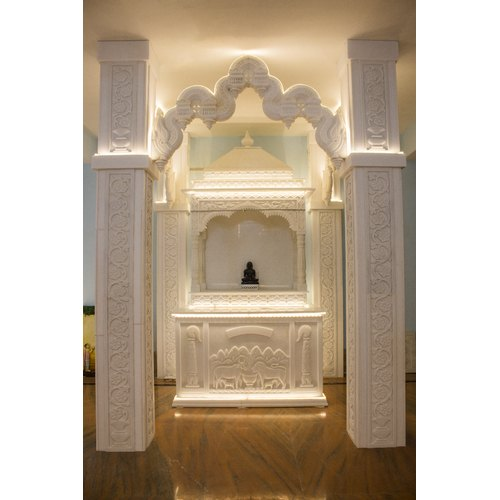 Hand Craved Marble Home Temple