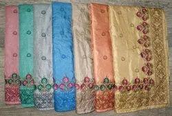 Border Embroidery Silk Saree