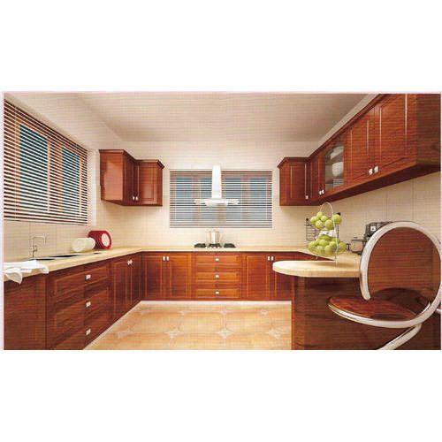 Teak Wooden Kitchen Cabinets