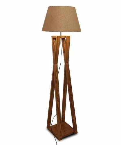 Monica Wooden Floor Lamp