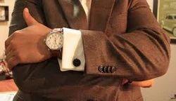 Brown Cufflinks Shirt