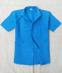 Cotton Half Sleeve Checks Shirt
