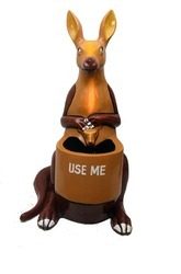 Attractive Kangaroo Shaped Dustbin