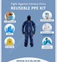 Reusable SITRA,DRGO,ATIRA,CE & ISO  Certified PPE Kit Reusable 80-20 Gsm Personal Protection Kit
