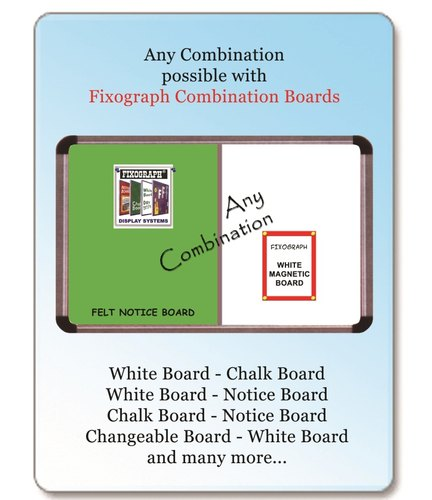 White Plain Combination Board, Frame Material: Premium